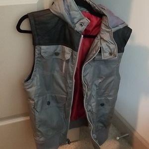 INC Mens Gray/Black Fall Vest